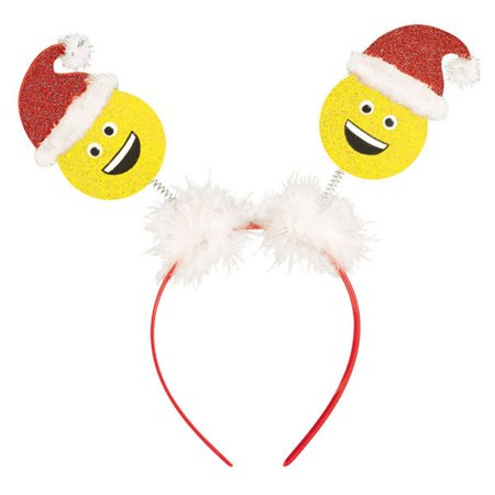 Laughing Santa Emoji Value Head Bopper HeadBopper Headband - Head Boppers Wholesale