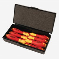 Wiha 32188 7 Piece Insulated Slotted and Phillips Small Screwdrivers Set