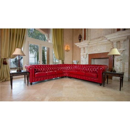 AFD Home 12014115 Classic Chesterfield Sectional - Red ()