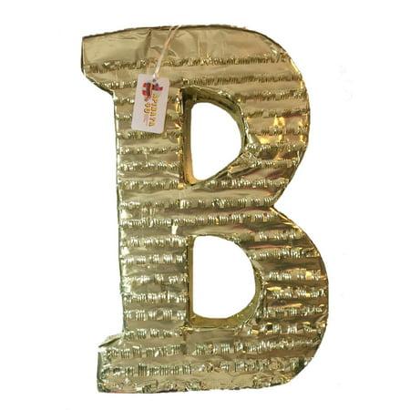 Large Pinata (APINATA4U Large Letter B Pinata Gold)