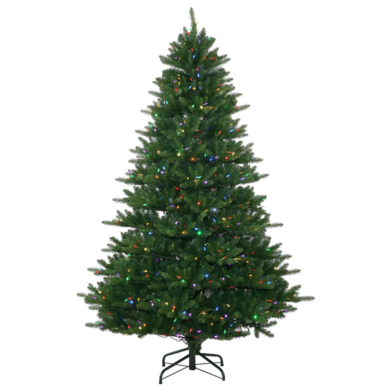 Multi Color Pre Lit Christmas Trees: 7.5' Pre-Lit Full Nikko Frasier Fir Instant Shape