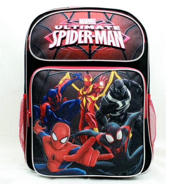 "Backpack - Marvel - Spiderman Group Black 16"" School Bag New US28266"