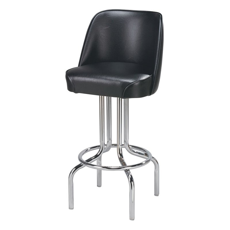 Regal Bucket Seat 26 in. Chrome Counter Stool