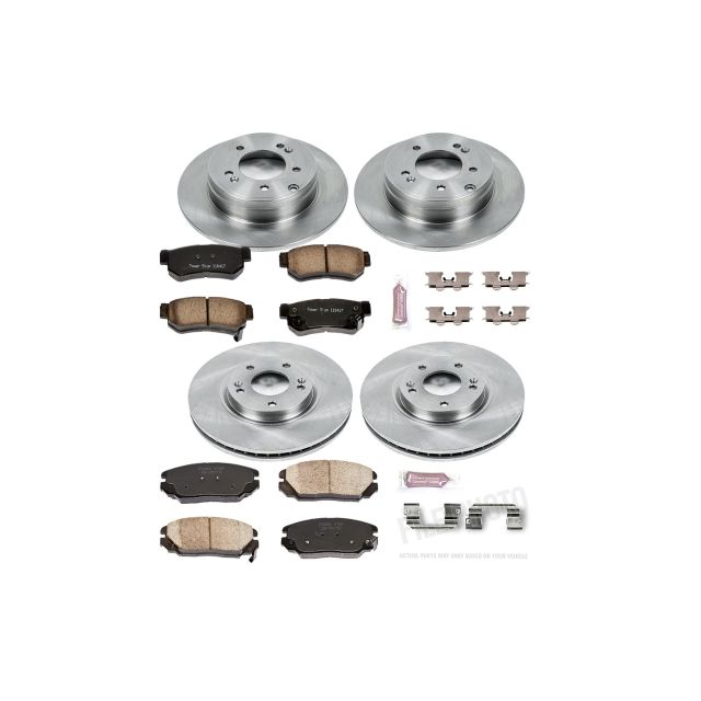 Power Stop KOE8108 Autospecialty Front and Rear Replacement Brake Kit-OE Brake Rotors /& Ceramic Brake Pads