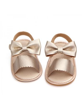 Lavaport Newborn Baby Girl Summer Sandals Anti-slip Prewalker Kids Soft Sole Crib Shoes 0-18M
