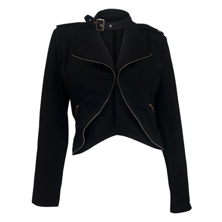 5b83ab97a63 eVogues Apparel - eVogues Plus Size Open Front Long Sleeve Jacket Black -  Walmart.com