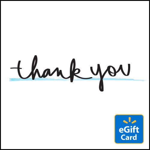 Thank You Walmart Egift Card Walmart Com