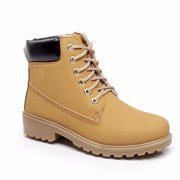 Men Spring Winter Warm Artificial Leather High-Top Ankle-High Boots Waterproof Rubber Outsole Shoes for Daily