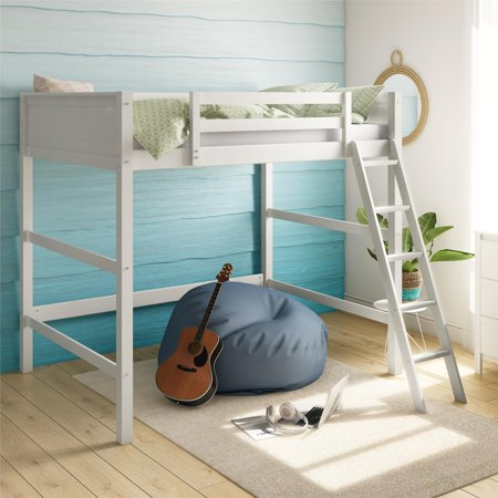 Your Zone Full Size Loft Bed, (Wood Loft Bed)