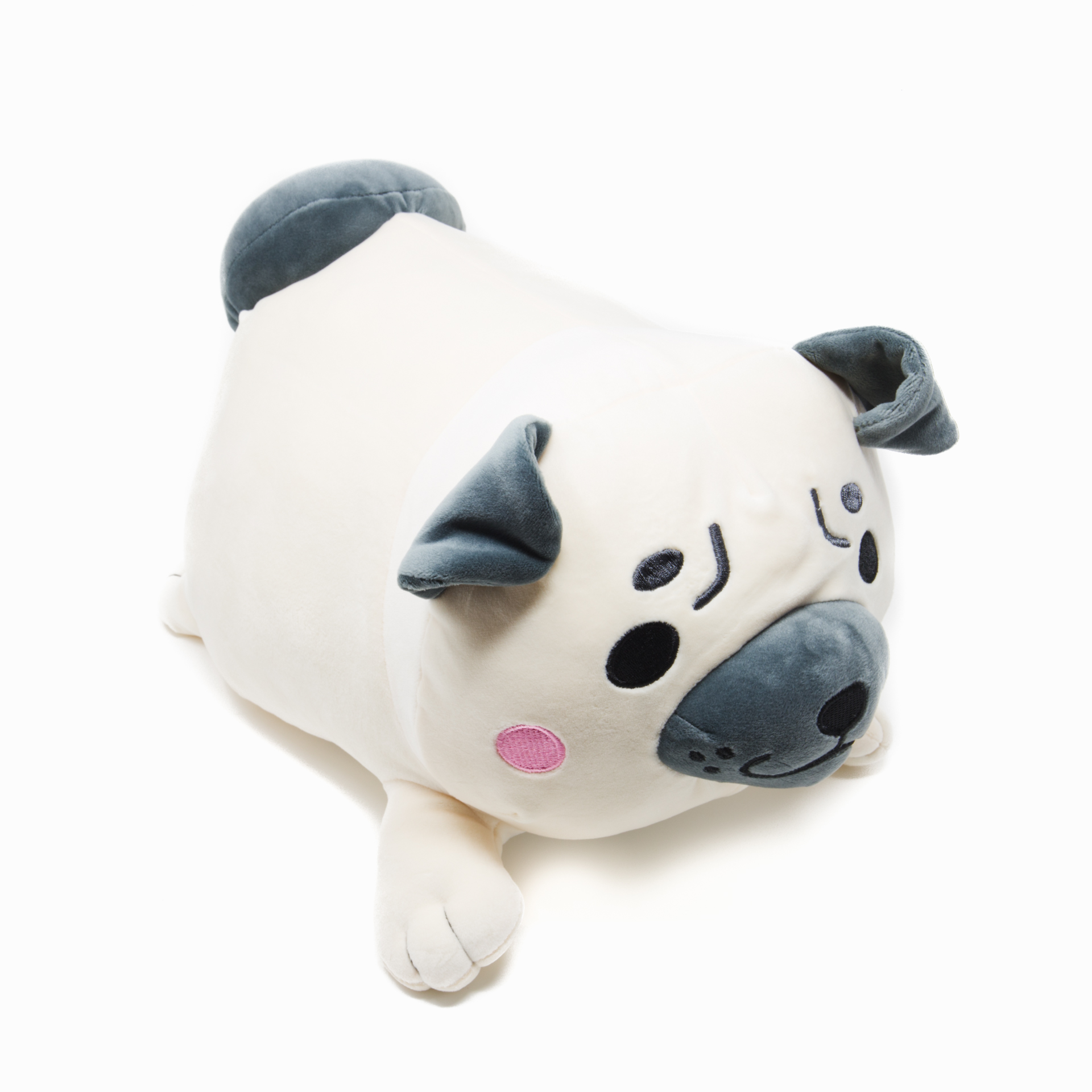 Scooshin Cute Ultra Soft 16 Pug Dog Stuffed Animal Pillow Cushion