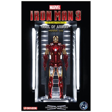 Dragon Models 1/9 Scale Iron Man 3 Hall of Armor Mark VII Model Kit