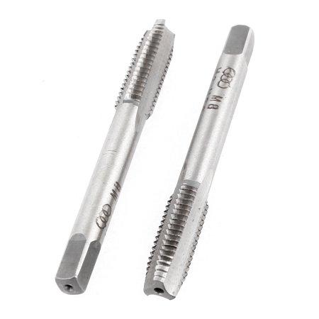 Unique Bargains High Speed Steel 3 Flutes 1.25mm Pitch M8 Metric Thread Machine Taper Tap x2