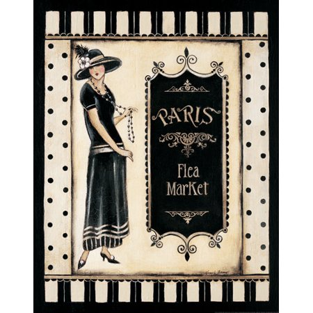 Paris Flea Market - mini Art Print Poster by Kimberly Poloson, 11X14