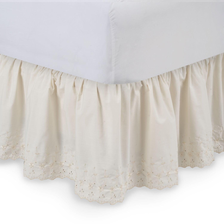 Eyelet Ruffled Bedskirt by