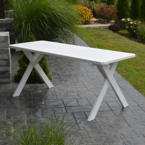 A & L Furniture Yellow Pine Cross Legged Picnic Table