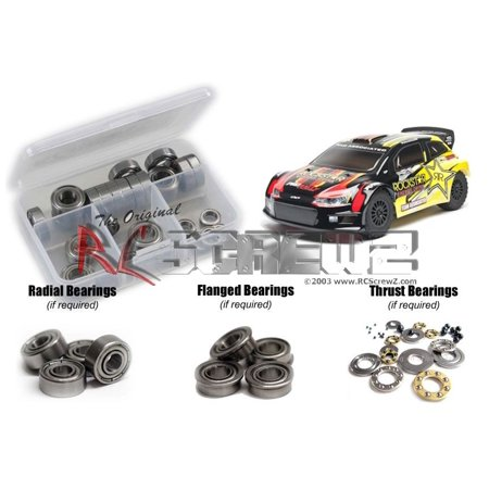 Associated Wheel - RC Screwz Metal Shielded Bearing Kit for Associated Pro Rally 4wd #ass060b