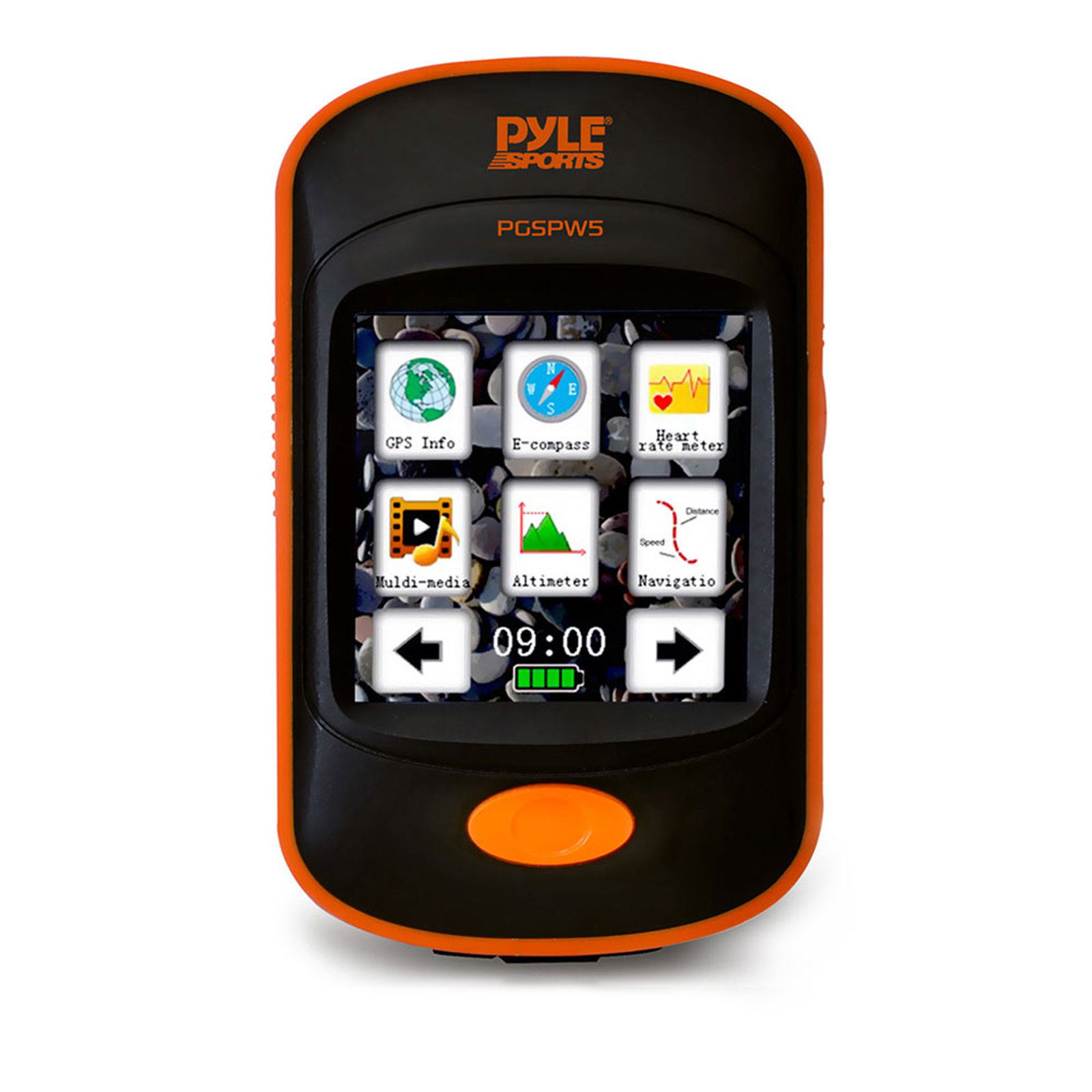 Pyle GPS Navigation Sporting Unit with Built-in MP3 Player, Pedometer, Speedometer, Altimeter,
