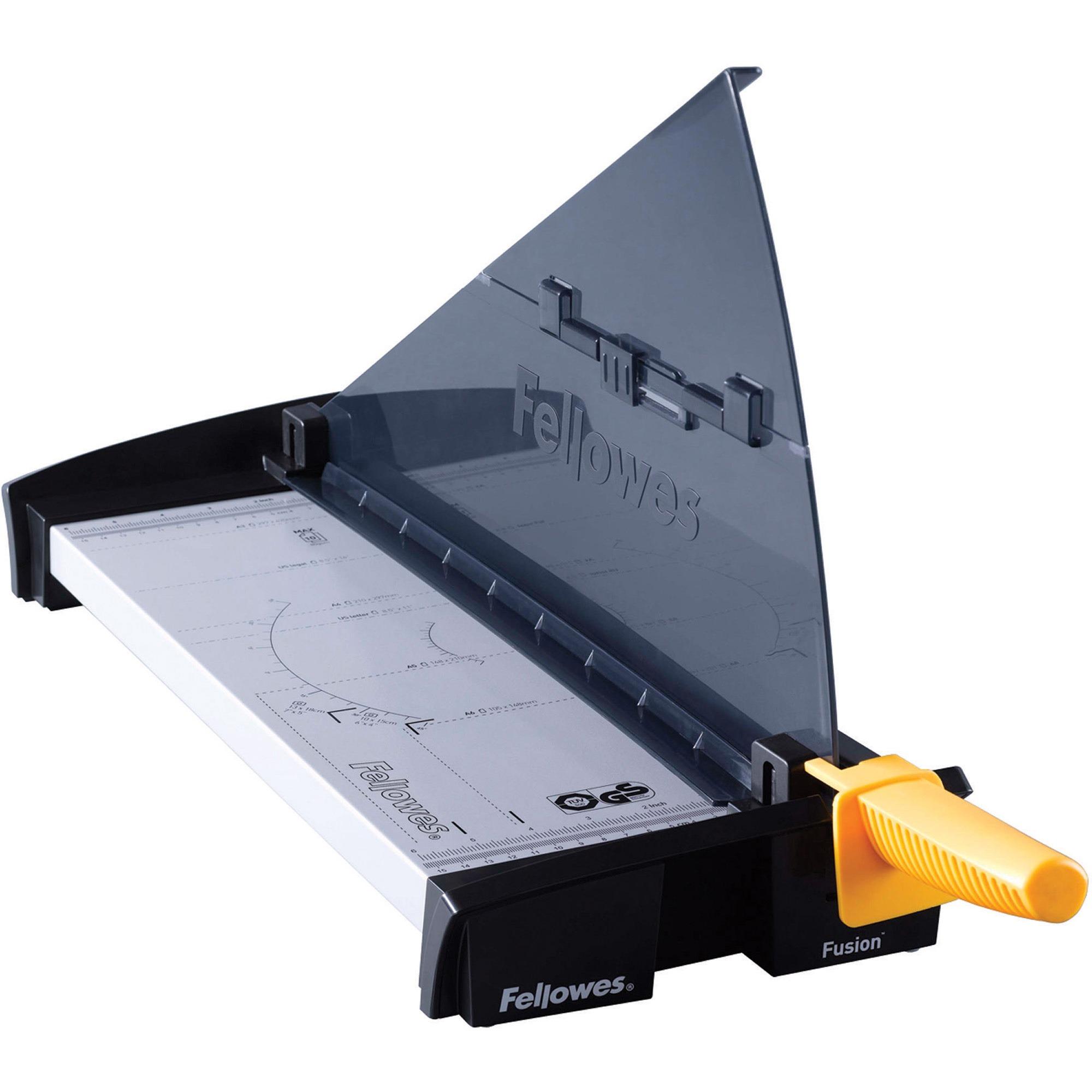 Fellowes, FEL5410902, Fusion 180 Paper Cutter, 1 Each, Black,Silver
