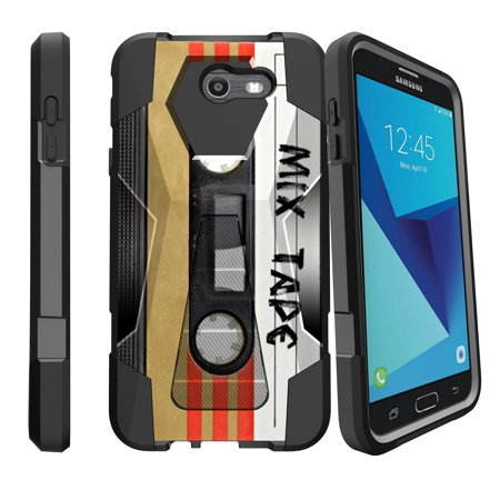 new style ffafd 5eb5c Case for Samsung Galaxy J7 PRO | J7-V 2017 | SKY PRO [ Shock Fusion ]  Hybrid Layers and Kickstand Case Unique Collection