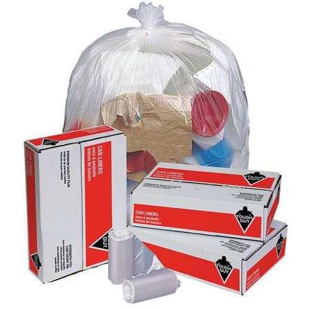 TOUGH GUY Trash Bags,10 gal.,5 micron,PK1000 49P430