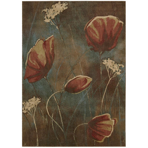 Nourison Somerset Poppy Field Woven Rug, Multi-Color