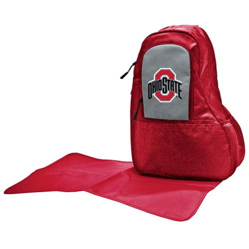 NCAA Diaper Bag by Lil Fan, Sling Style - Ohio State Buckeyes