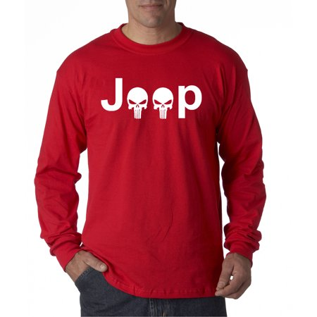 New Way 606 - Unisex Long-Sleeve T-Shirt Jeep Punisher Logo Skulls (Punisher Shirt)