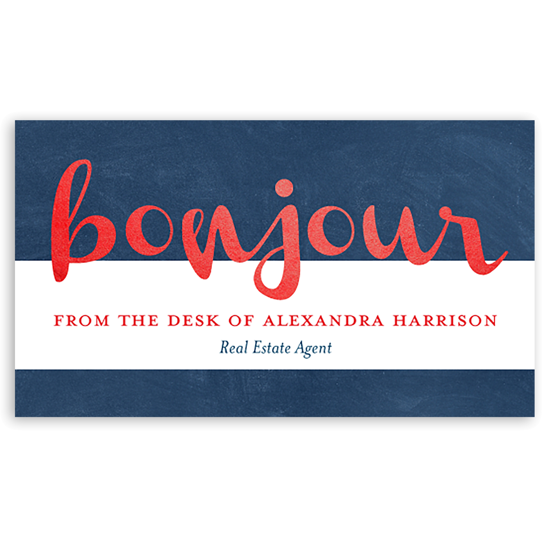 Bonjour - Personalized 3.5 x 2 Business Card