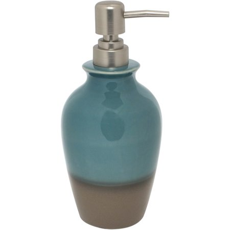 Better Homes and Gardens Reactive Glaze Ceramic Accessories Collection - Tall Lotion/Soap Pump