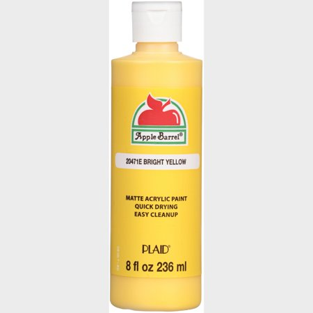 Plaid® Apple Barrel® Bright Yellow Matte Acrylic Paint 8 fl. oz. Bottle