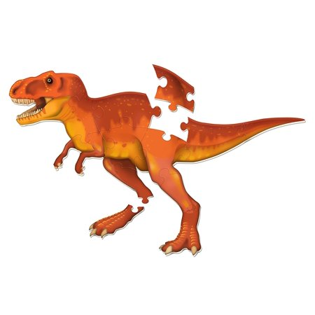Learning Resources T-Rex Jumbo Dinosaur Floor Puzzle, 20 Pieces