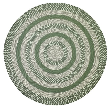 Newport Braided Rug 8 Round Sage (Brown Multi Colored)