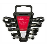 Apollo Tools DT1212 5-Piece Ratcheting Wrench Set SAE