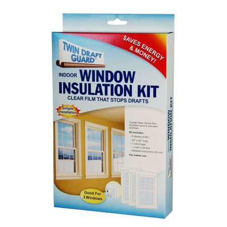 Twin draft guard 3 window insulation kit energy saver heat for Window insulation kit