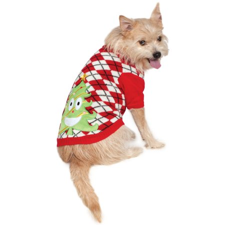 Ugly Christmas Sweater with Trees Pet Costume - Christmas Tree Costumes