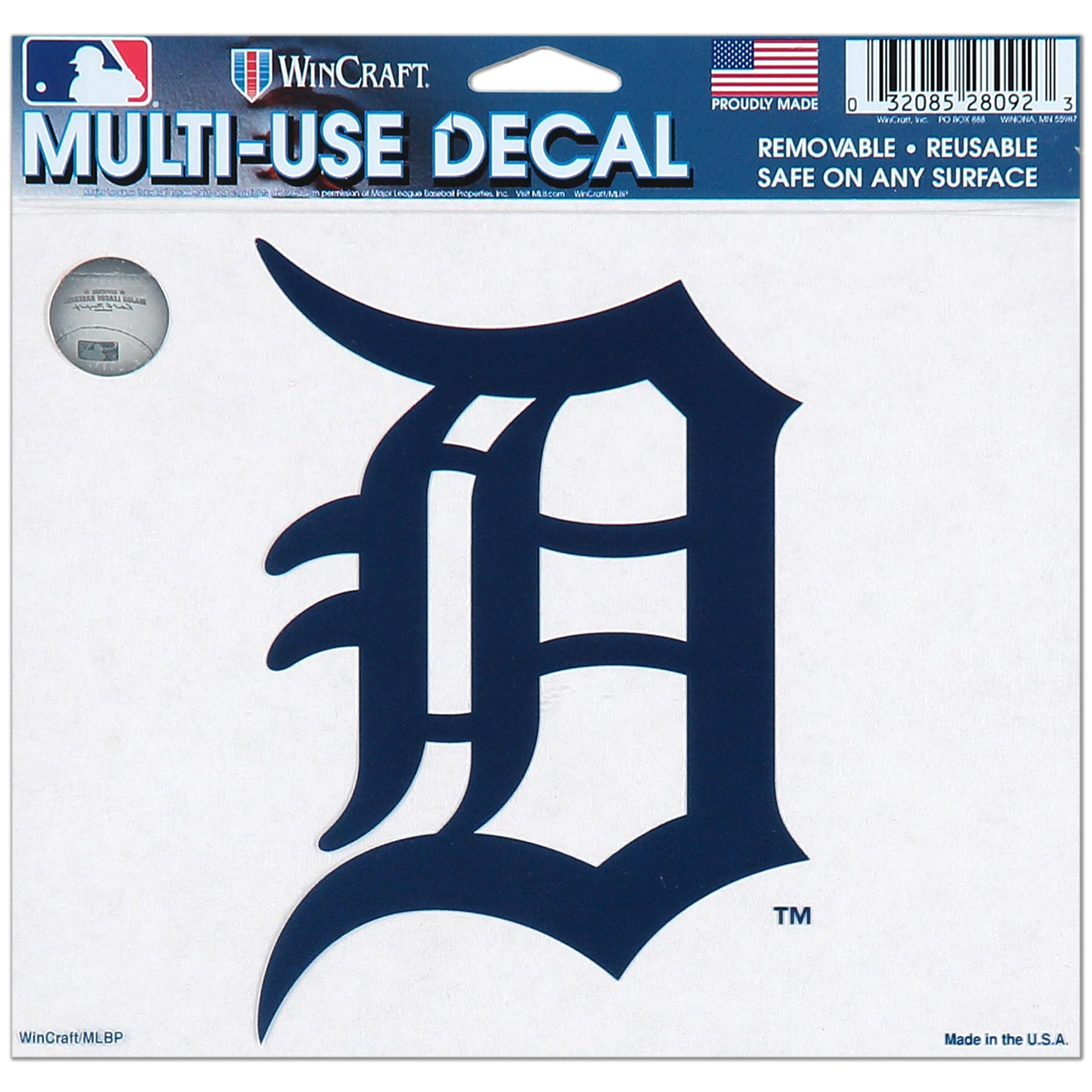 """Detroit Tigers WinCraft 4.5"""" x 6"""" Multi-Use Decal - No Size"""