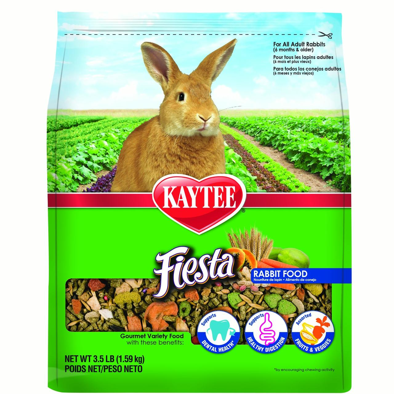 Kaytee Fiesta Gourmet Variety Diet Rabbit Food, 3.5 Lb by Kaytee