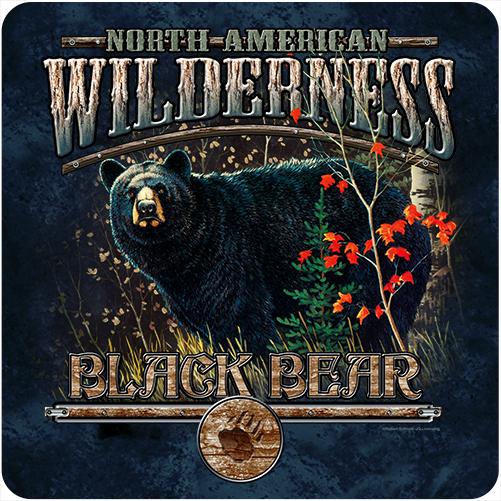 Black Bear Wilderness Novelty Sign   Indoor/Outdoor   Funny Home Décor for Garages ...