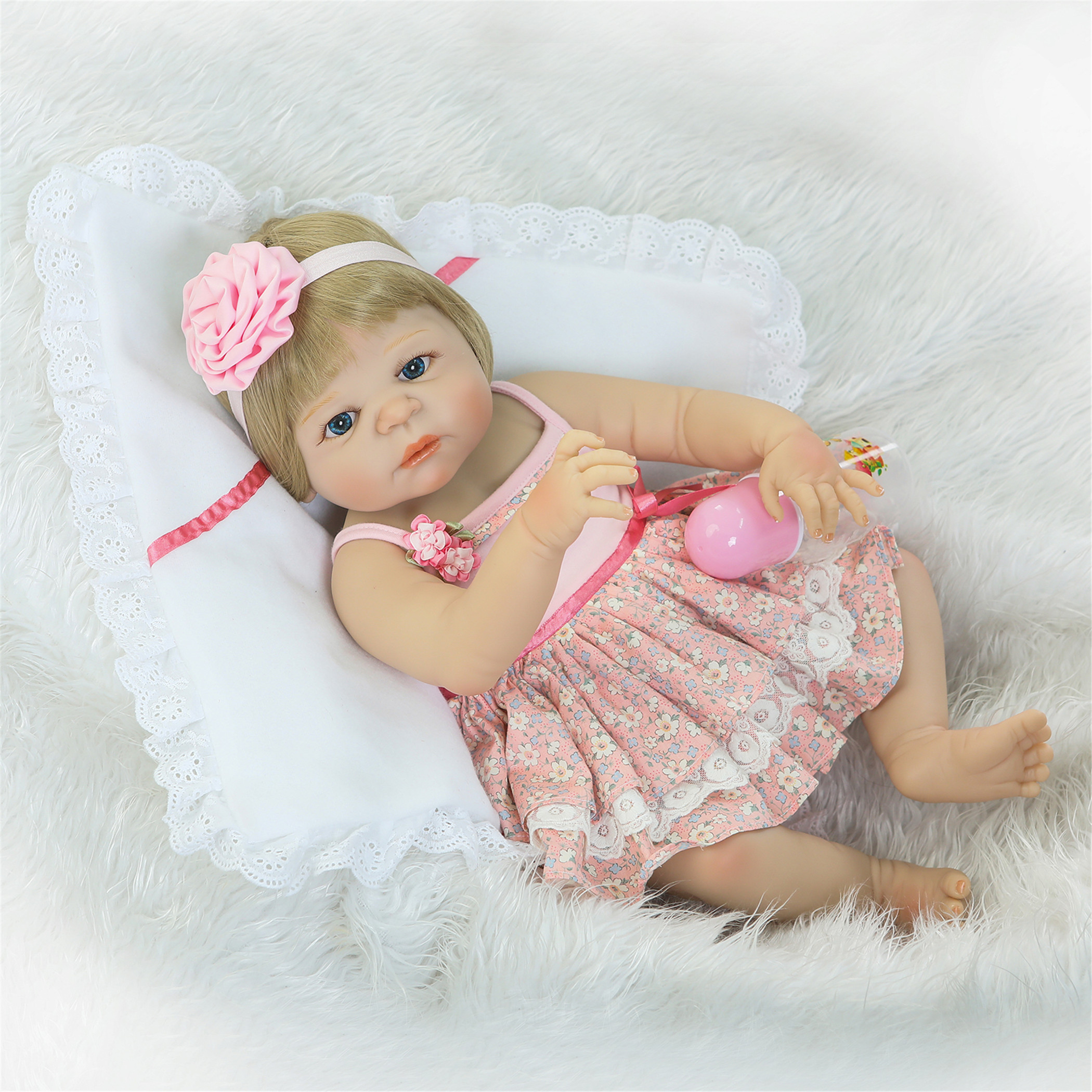 npk collection reborn baby doll soft silicone vinyl 22inch 55cm