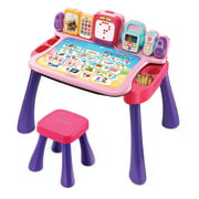 VTech Explore and Write Activity Desk, Interactive Teaching Toy, Pink