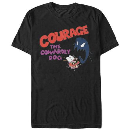 Courage the Cowardly Dog Men's Dog Fright Logo T-Shirt
