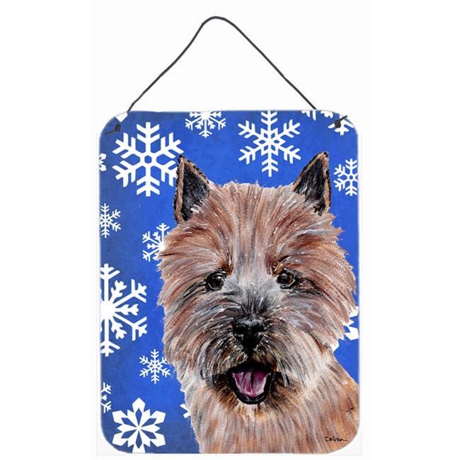 Carolines Treasures SC9782DS1216 Norwich Terrier Winter Snowflakes Aluminium Metal Wall Or Door Hanging Prints - image 1 de 1