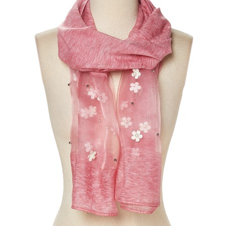 bambino fascino dei costi l'atteggiamento migliore Coral Scarfs for Women Winter Fashion Lightweight Scarves Evening Prom  Scarf Flower Casual Long Neck Wrap Gift Accessories Online