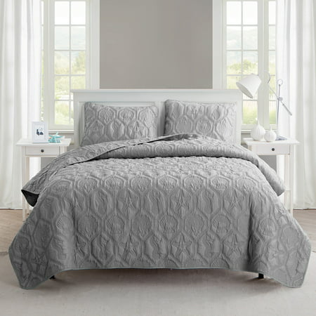 VCNY Home Shore Coastal 3-Piece Quilt Set, King with Quilt and Shams