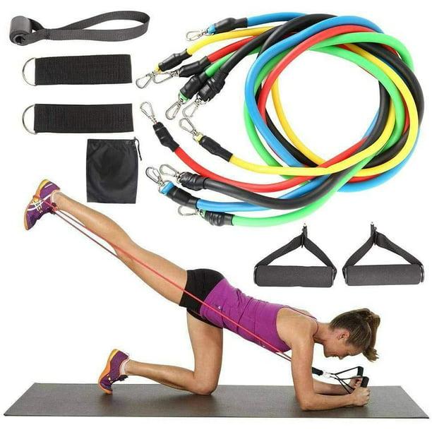 Resistance Bands Workout Leg Exercise Yoga Crossfit Fitness Training Tubes Gym
