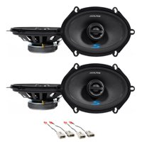 """Alpine S 5x7"""" Front+Rear Speaker Replacement For 2004 Ford F-150 Heritage"""