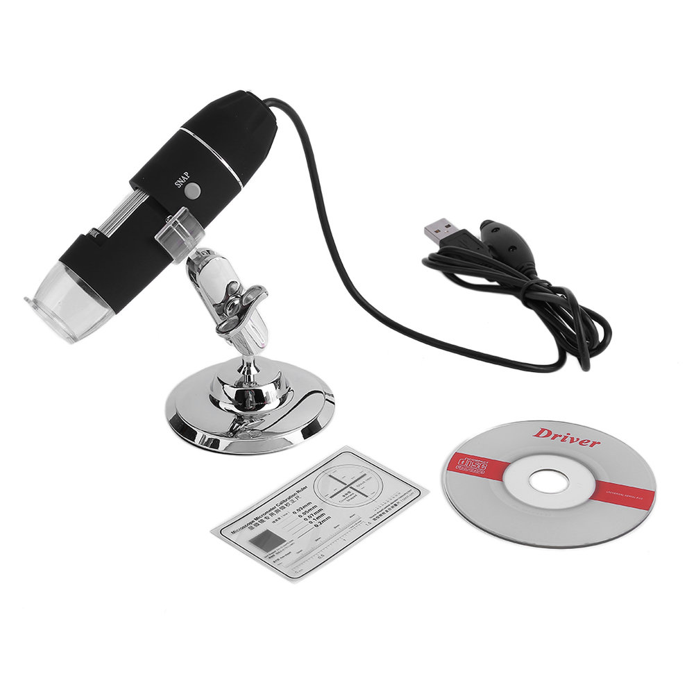 Portable Brightness Adjustable 800x Digital USB Microscope Endoscope Camera Practical 8 LED Light 2MP Magnifier