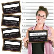 Finally 21 Girl - 21st Birthday Party Mug Shots - Photo Booth Props Kit - 20 Count