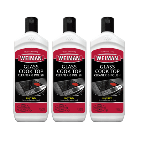 (3 pack) Weiman Glass Cook Top Cleaner, 15 Oz