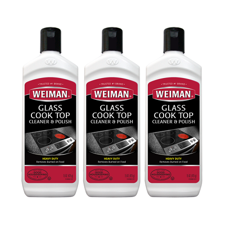 Pellet Stove Glass Cleaner ((3 pack) Weiman Glass Cook Top Cleaner, 15 Oz)